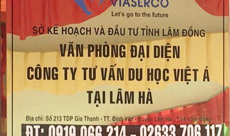 Thông báo thay đổi thông tin liên hệ du học Việt Á tại Lâm Hà